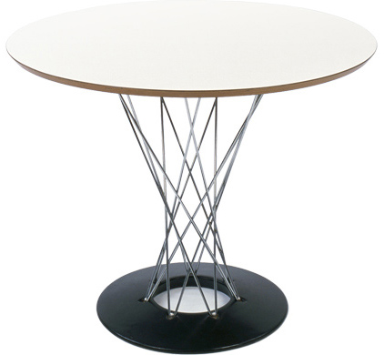 Noguchi Cyclone Dining TAble in White. 48 inch Diameter