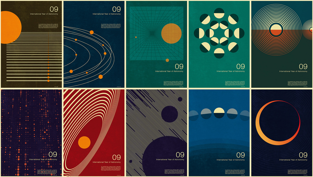 International style modular 4 for Space poster design