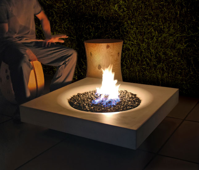 Solus halo concrete fire pit modular 4 for Prefabricated fire pits