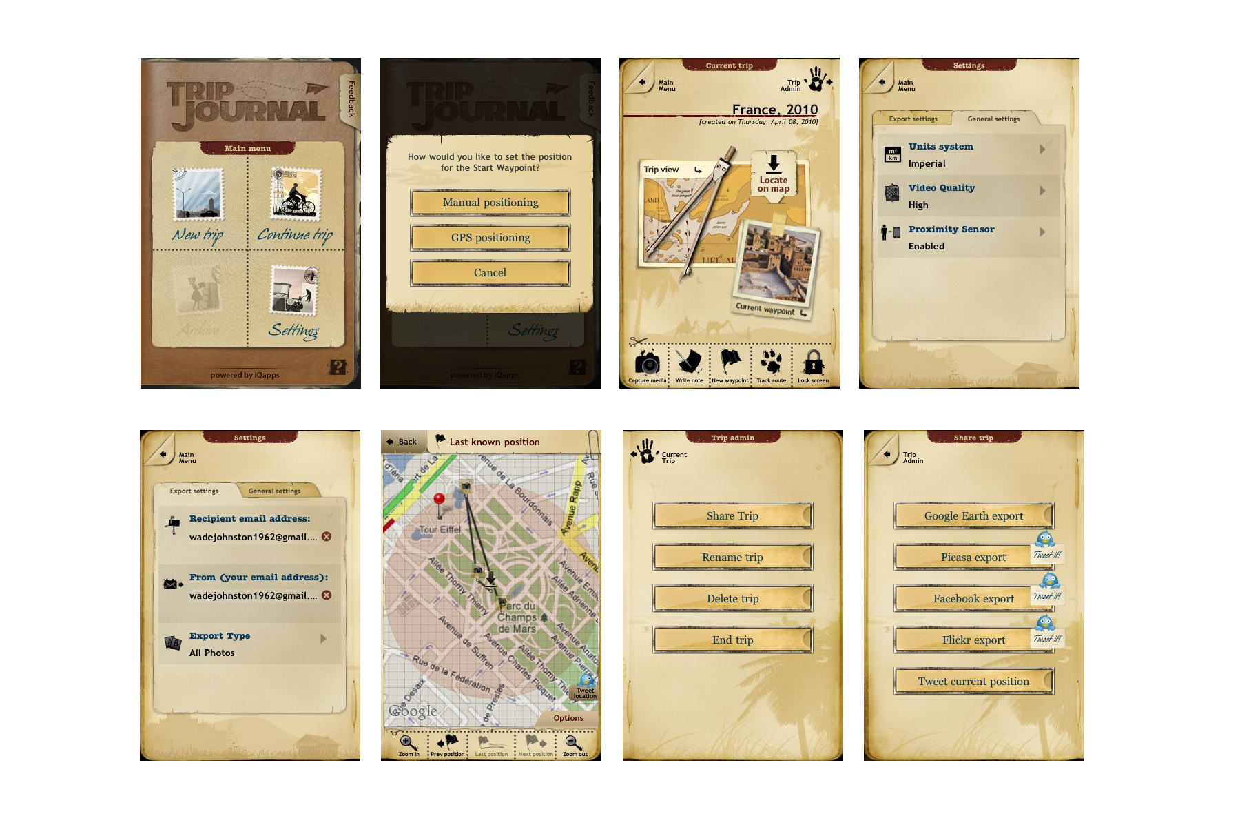 wordpress and trip journal for the iphone modular 4