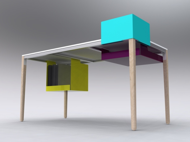 plans office desk