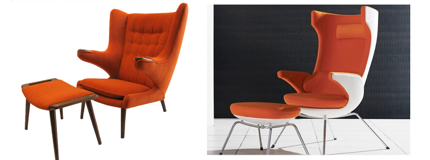 Hans Wegneru0027s Iconic U201cPapa Bear Chair And Ottoman From 1951. The ...