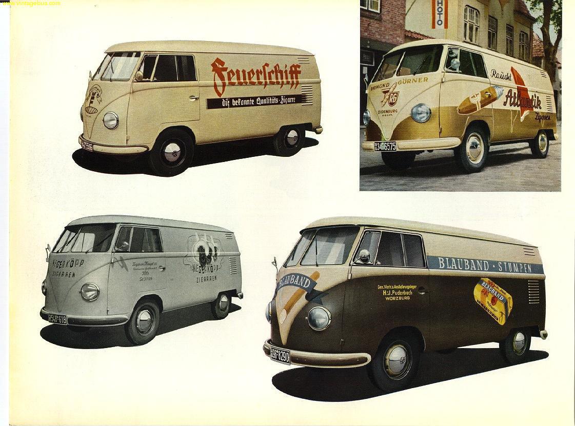 The vintage vw van presented in dealer book glory for 18 window vw bus