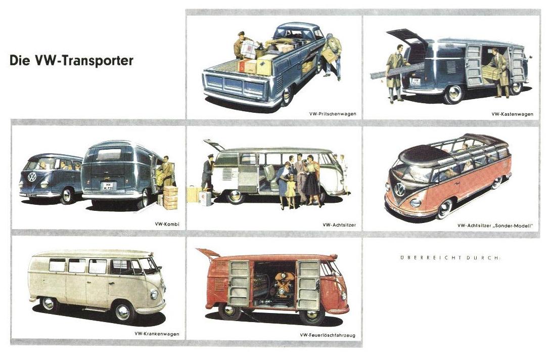 the vintage vw van presented in dealer book glory modular 4. Black Bedroom Furniture Sets. Home Design Ideas