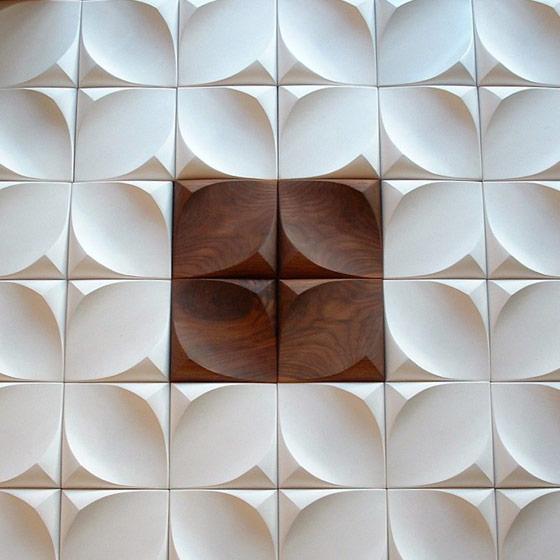 Curvy Undulating Dune Wall Tiles.