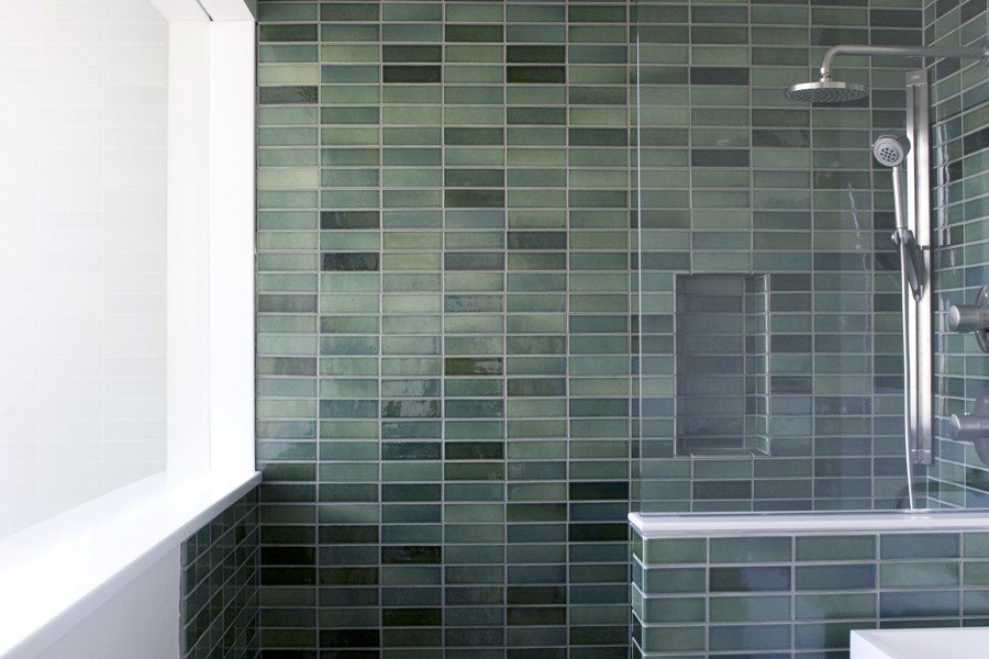 Our master bathroom overhaul has begun modular 4 for Heath tile