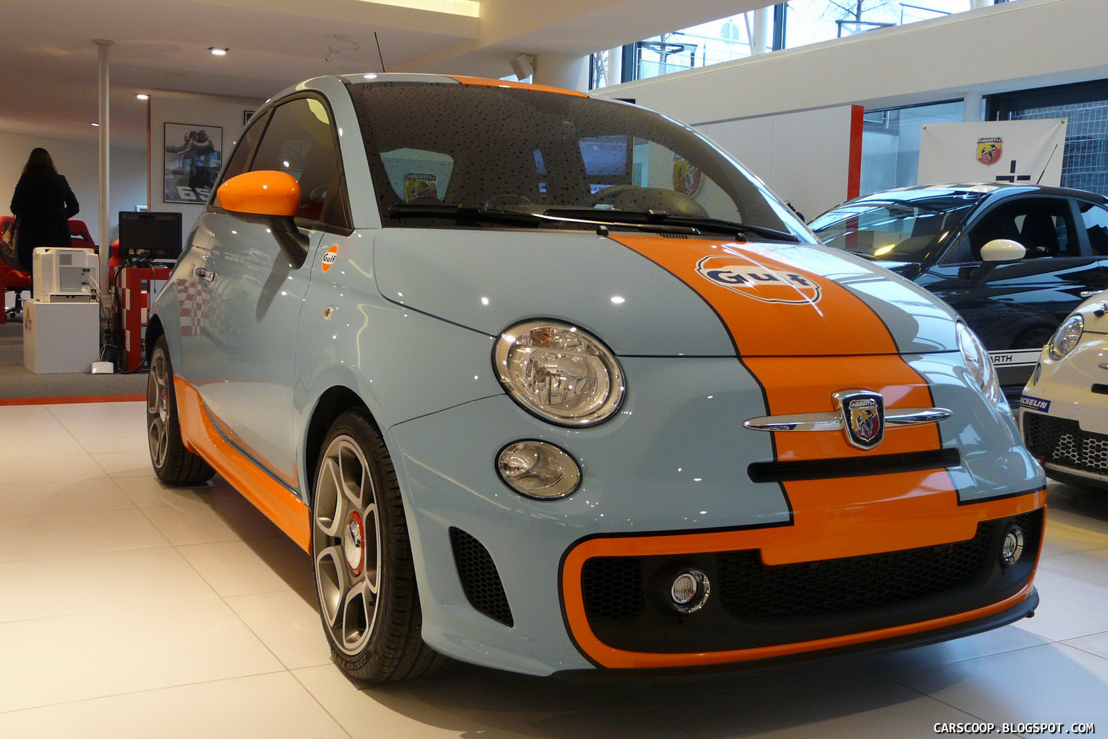 fiat abarth 500 gulf limited edition with Design Friday The Color Of Gulf Racing on Postimg 4362510 together with Pagani Huayra The Car Of Dreams Revealed In The Real World together with 2012 Noble M600 Eye Watering 650 Hp as well Archive furthermore Abarth 500 Esseesse Par Thesuperstar801 77927.