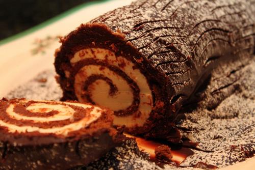 Decorating Ideas > Lets Make A Yule Log (Buche De Noel) Cake  Modular 4 ~ 115459_Log Cake Decoration Ideas