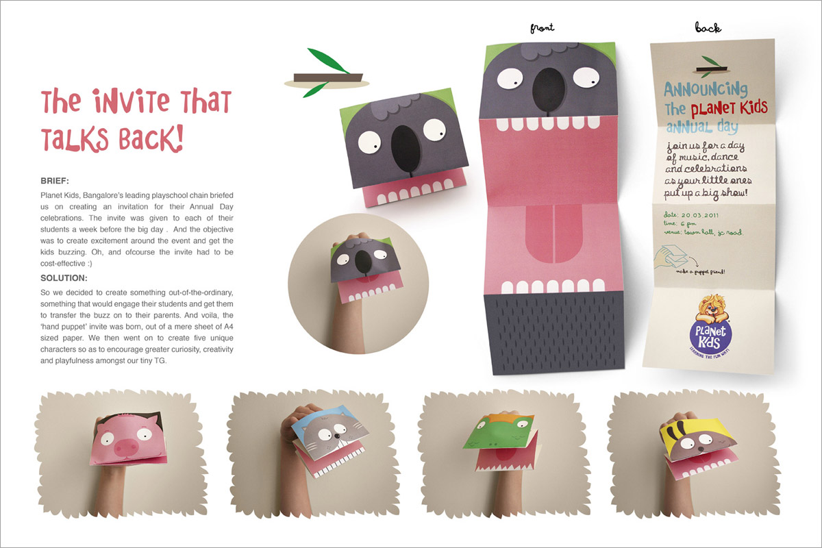 Planet Kids Hand Puppet Invitations Modular 4