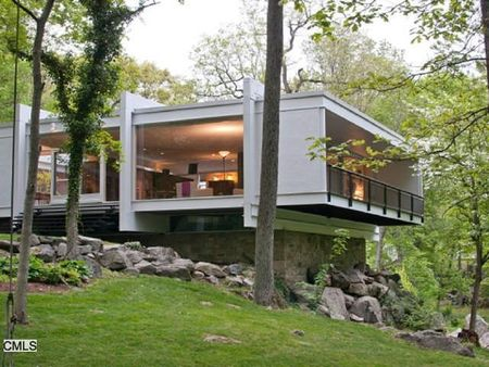 For sale the goodyear house by architect john m johansen for Modern house kits for sale