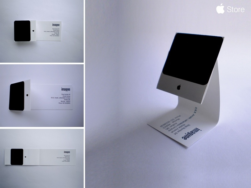 Imagine an imac business card modular 4 i love how the card cleverly folds up into an imac great design nice layout has staying power all things that a business card needs reheart Choice Image