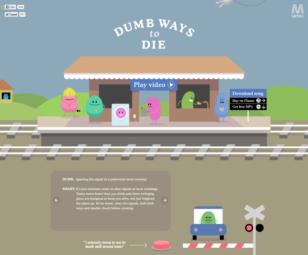 Dumb ways to die a brilliant safety campaign from australia