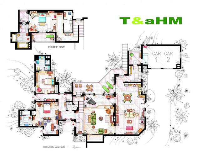 Famous television show home floor plans 10 modular 4 for Famous home designs