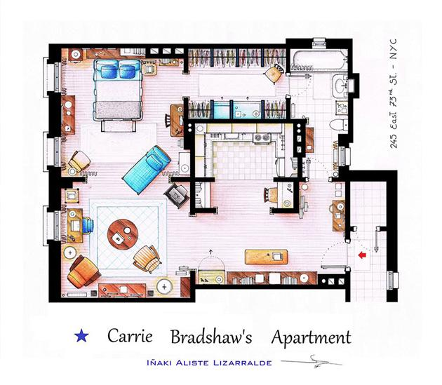 Famous Television Show Home Floor Plans 5 Modular 4