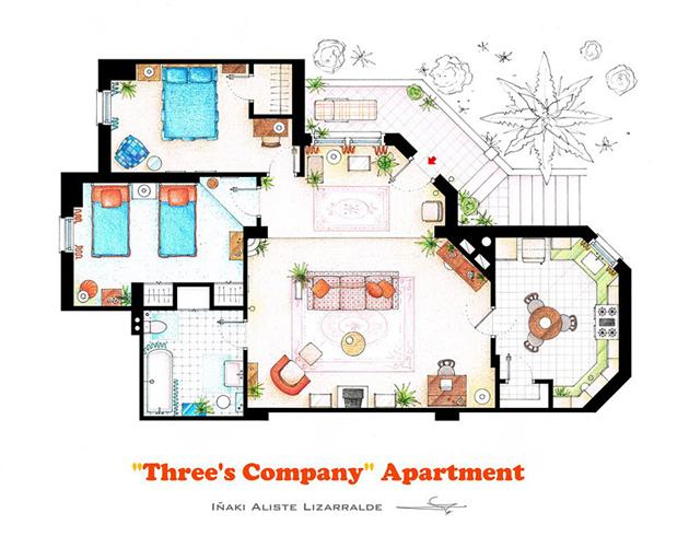 Tv and movie home floor plans by i aki aliste lizarralde for Floor plans of famous houses